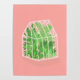 Greenhouse full of plants Poster