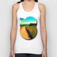 hiking Tank Tops featuring Hiking on a hot afternoon by Patrick Jobst