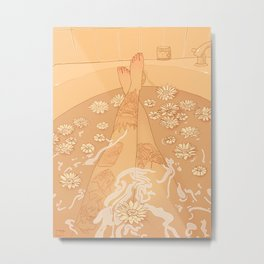 Flower Bath 10 (censored version) Metal Print
