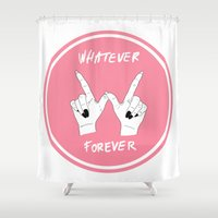 clueless Shower Curtains featuring Whatever Forever by T-Hype (julianajace)