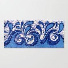 Batik Waves Canvas Print