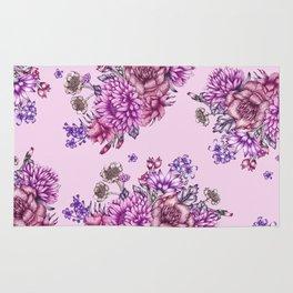 Pink Vintage Florals Rug