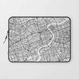 Shanghai Map White Laptop Sleeve