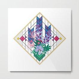Wildflower Impressions - Wild Lupine, Prairie Smoke, Birdsfoot Violet Metal Print