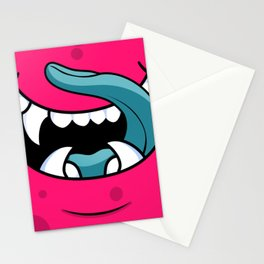 Monster Mouth Cool Halloween Stationery Cards