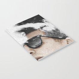 Cigar Smoker Cigar Lover JFK Gifts Black And White Photo Tee Shirt Notebook