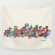 Richmond Virginia skyline  Wall Tapestry