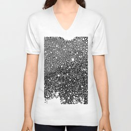 B&W meditation design Unisex V-Neck