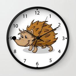 Hedgehog cartoon. Wall Clock