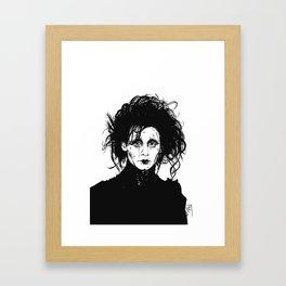 Ed Scissorhands Sketch Framed Art Print
