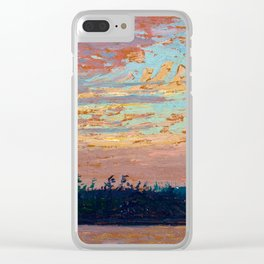 Tom Thomson - Sunset Sky - Canada, Canadian Oil Painting - Group of Seven Clear iPhone Case