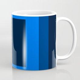 Navy Blue Square Design Coffee Mug