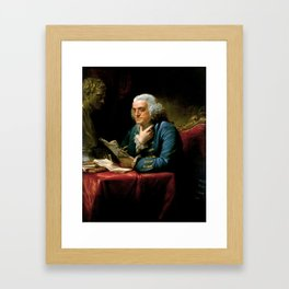 Benjamin Franklin by David Martin, 1767 Framed Art Print
