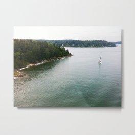 Boat at Sea Metal Print