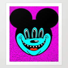 MICKEYES. (Red Tongue). Art Print