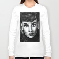 audrey Long Sleeve T-shirts featuring Audrey  by Lily Fitch