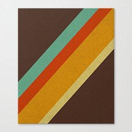 Retro 70s Color Palette Canvas Print