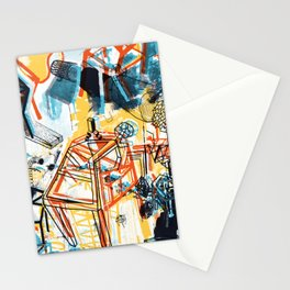 yellowredblueandblack Stationery Cards