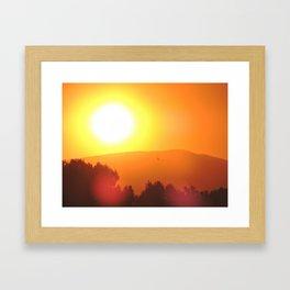 Golden Sunset in Spain Framed Art Print