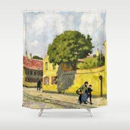 12,000pixel-500dpi - Paul Gustav Fischer - View From Nyboder - Digital Remastered Edition Shower Curtain