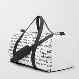 For what it's worth... F. Scott Fitzgerald Duffle Bag