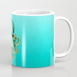 Cute Baby Octopus With Football Soccer Ball Coffee Mug