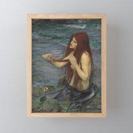 John William Waterhouse Mermaid 1892 Framed Mini Art Print