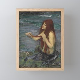 John William Waterhouse Mermaid 1892 Framed Mini Art Print