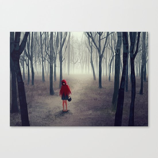 Away from light Canvas Print