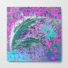 Ferns and Floweres #3 Metal Print