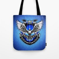 ravenclaw Tote Bags featuring HARRY POTTER RAVENCLAW by Veylow