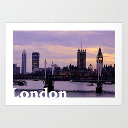 London in the evening Art Print