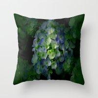 hydrangea Throw Pillows featuring Hydrangea by Sartoris ART