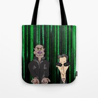 matrix Tote Bags featuring Matrix by flydesign