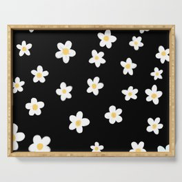 Daisies doodle pattern Serving Tray