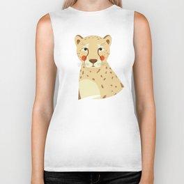 Cheetah, Animal Portrait Biker Tank