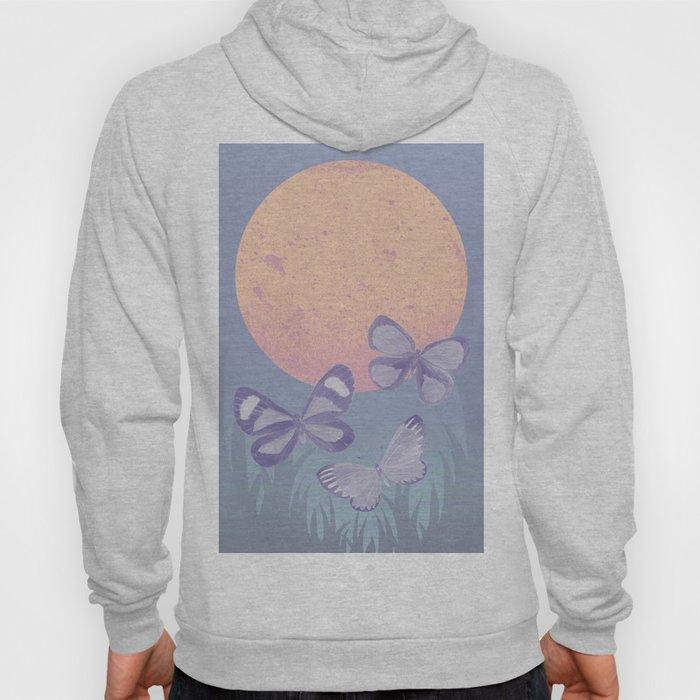 Moonrise Meadow Butterflies Hoody