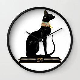 Egyptian Cat Sphynx Wall Clock