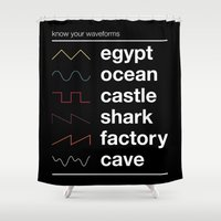 physics Shower Curtains featuring Know your Waveforms by Florent Bodart / Speakerine