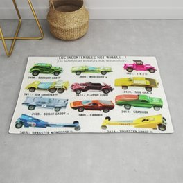 Ultra Rare Vintage Mexico Issue CIPSA Hot Wheels Redline Poster Rug