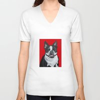 coco V-neck T-shirts featuring Coco by Pawblo Picasso