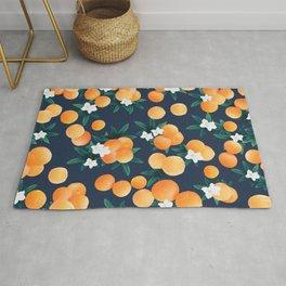 Orange Twist Flower Night Vibes #2 #tropical #fruit #decor #art #society6  Rug