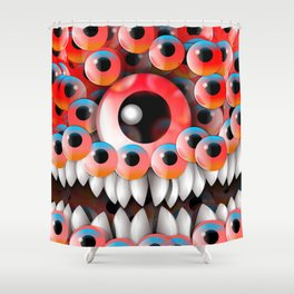 Eyeball Monster Shower Curtain