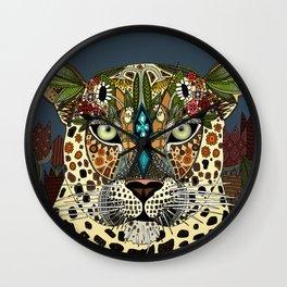 leopard queen blue Wall Clock