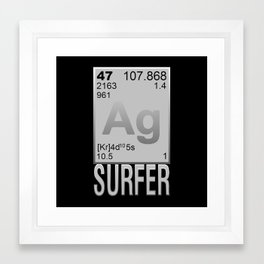 Silver Surfer Framed Art Print