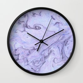 Marbly Lavender Wall Clock
