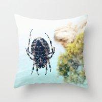 spider Throw Pillows featuring Spider by Bor Cvetko