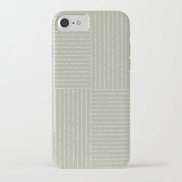 Lines III (Linen Sage) iPhone Case
