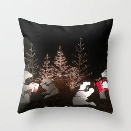 Polar Bear Christmas Throw Pillow