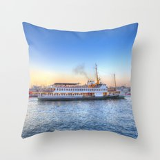 Pleasure Cruise Boat Istanbul Throw Pillow